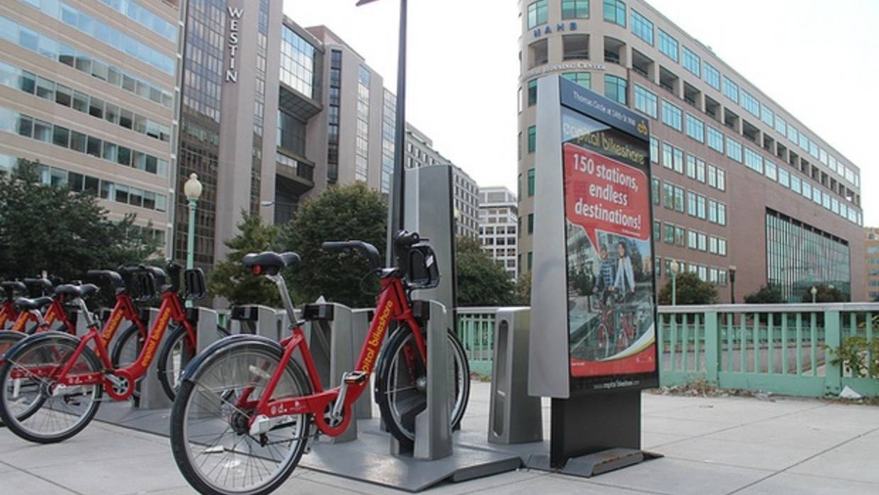 A Capital Bike Share Stop in Washington DC