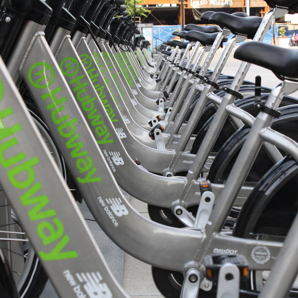 A Boston Bike-Share station is full of cycles