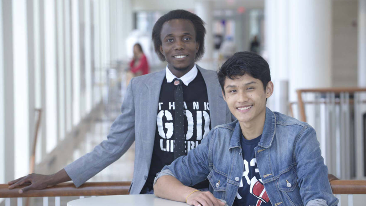 Two young participants in the Success Boston initiative.