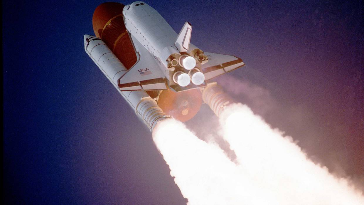 Space Shuttle Taking Off, from Wikimedia Commons