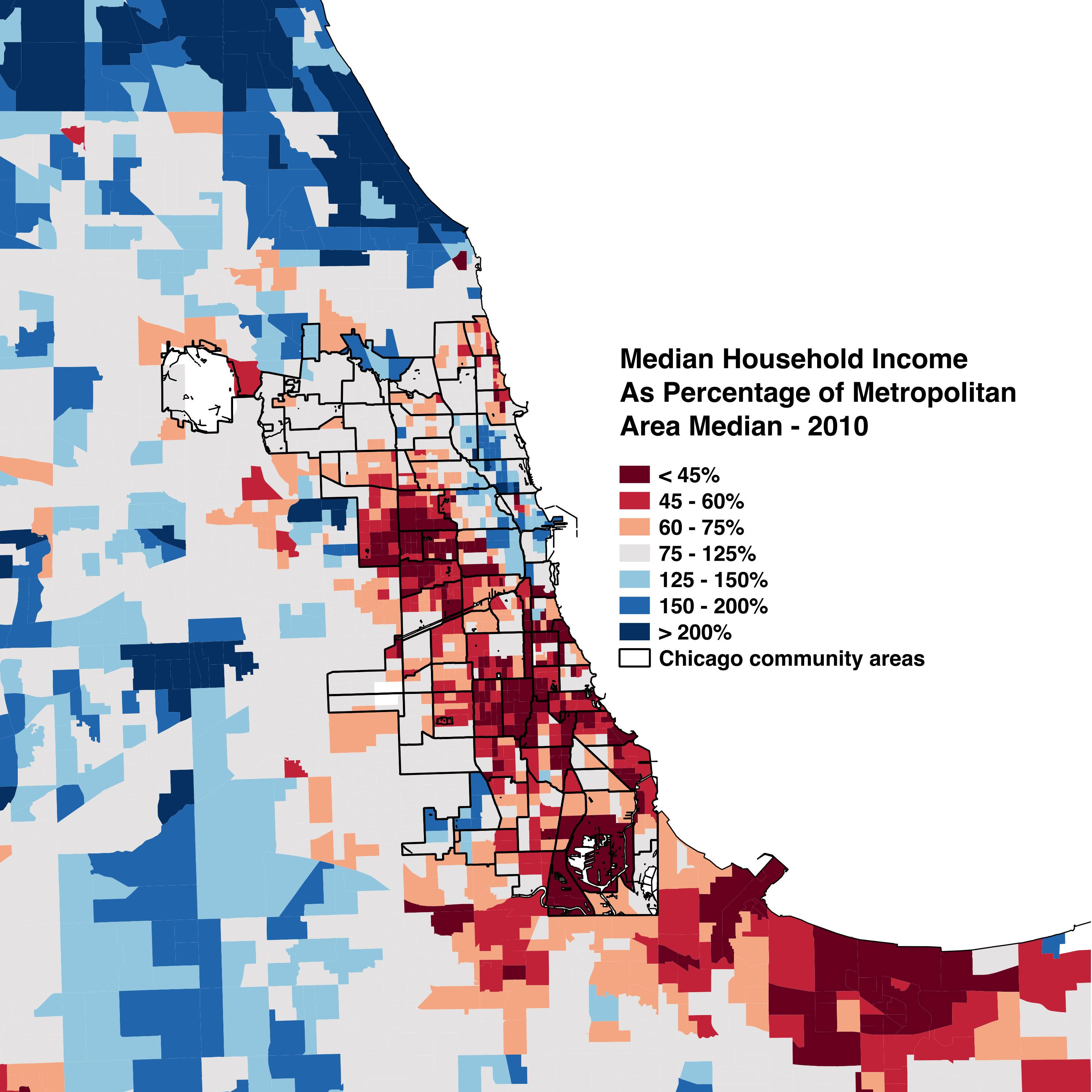 Chicago zip code map 2016 on