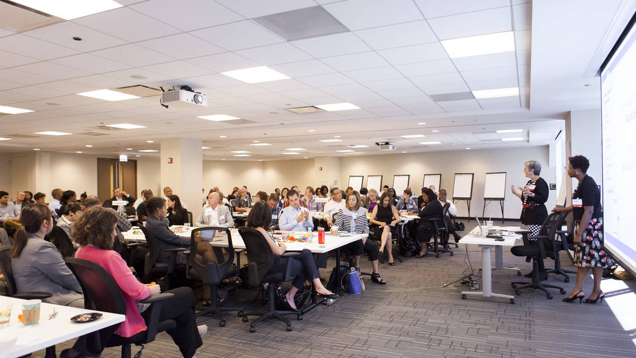 Participants in a Racial Equity and Inclusion Training at The Integration Initiative Learning Community in June 2015.
