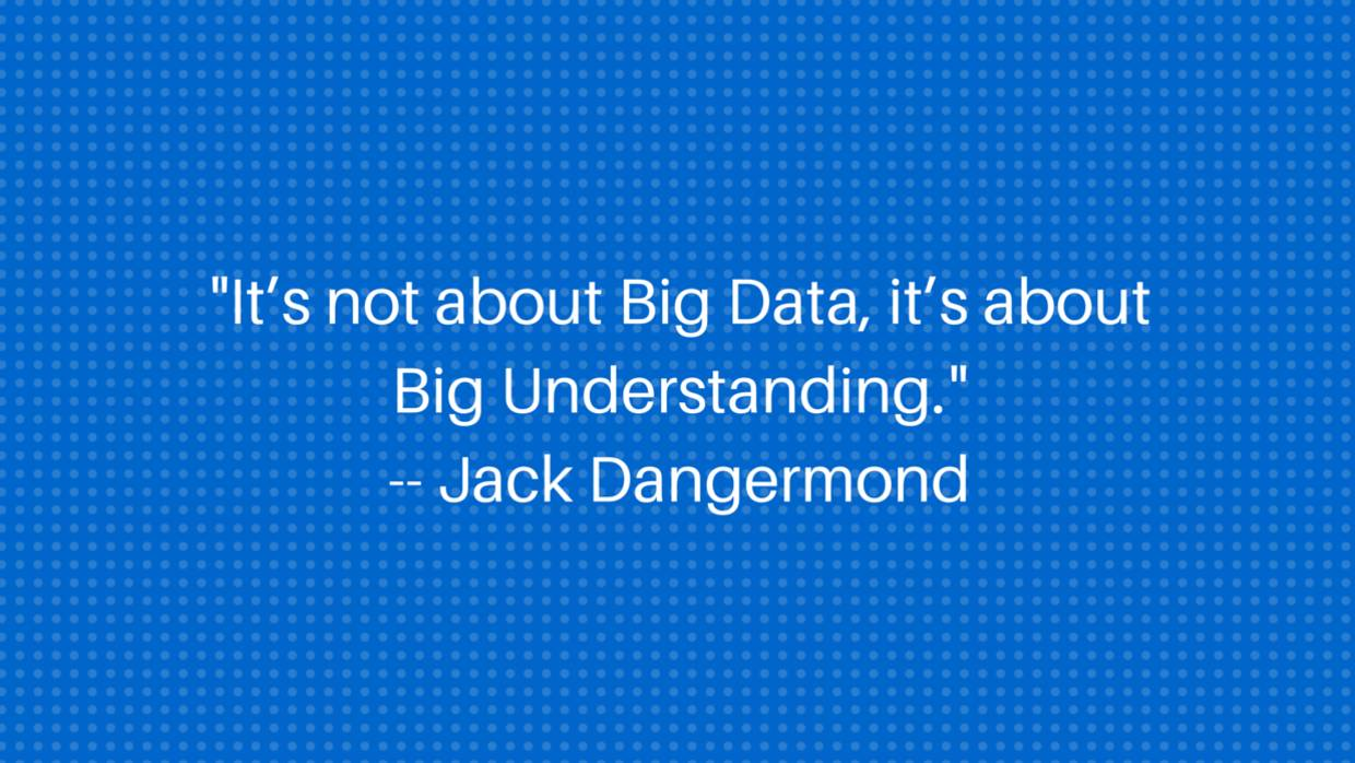Quote: Jack Dangermond on Big Understanding (PMI Sept 2015)
