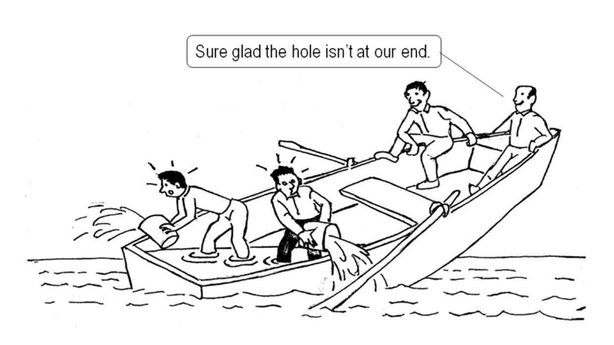 Boat Sinking: A Cartoon Metaphor for a Common Collective Impact Challenge
