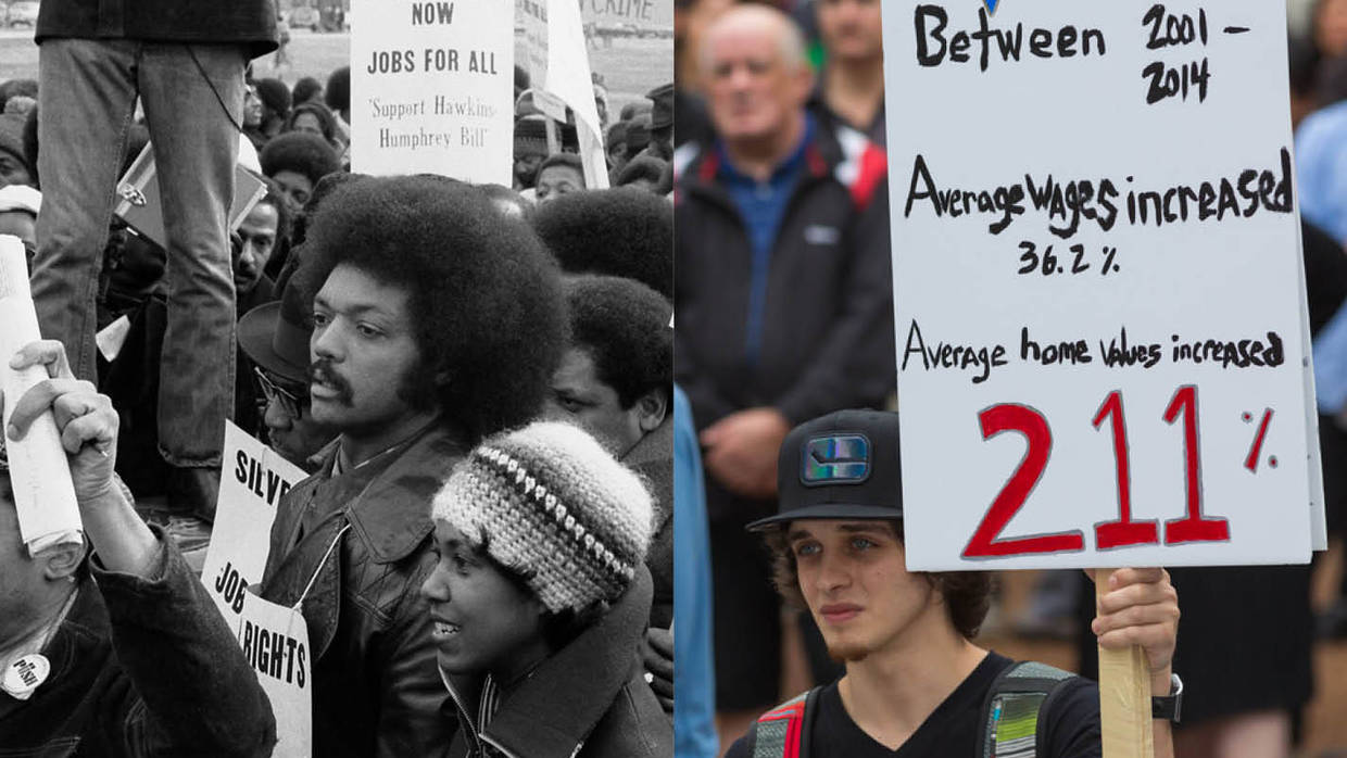 Wage Protests Then and Now Image from 25th Anniversary